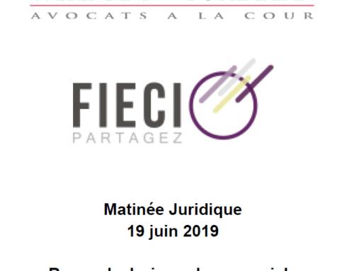 Annexes Matinale juridique 19 juin 2019 – Revue de Jurisprudence sociale (Année 2018 – 1 er Semestre 2019)